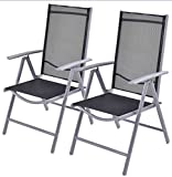 K&A Company Zero Gravity Lounge Folding Outdoor Patio Recliner Beach Chairs Tray Utility Holder Pool Reclining Drink Yard Set of 2