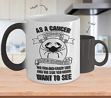 as a cancer i have 3 sides 11 oz ceramic coffee horoscope zodiac birth sign