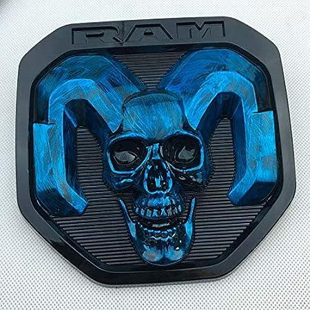The New RAM Standard Applicable Trunk RAM1500 Modified Labeling Standard Ram Pickup Skull Logo Mark JFIDSJ Color : Blue