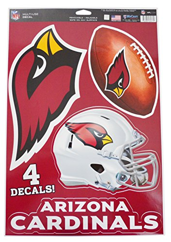Official National Football League Fan Shop Licensed NFL Shop Multi-use Decals (Arizona Cardinals) (Wincraft Arizona Cardinals Decal)