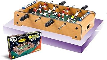 Devessport - Futbolín de sobremesa Ideal para Jugar con Amigos - Infantil - A Partir de 3 años - Fácil Montaje - Dispone de marcadores - Medidas: 51 x 31 x 10.5 Cm: Amazon.es: Juguetes y juegos