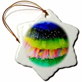 3dRose Danita Delimont - Objects - Spain, Balearic Islands, Mallorca. Rainbow of colors on netted skirts. - 3 inch Snowflake Porcelain Ornament (orn_277902_1)