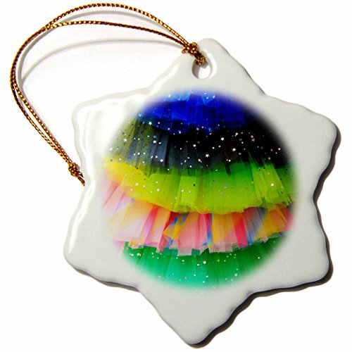 3dRose Danita Delimont - Objects - Spain, Balearic Islands, Mallorca. Rainbow of colors on netted skirts. - 3 inch Snowflake Porcelain Ornament (orn_277902_1) by 3dRose