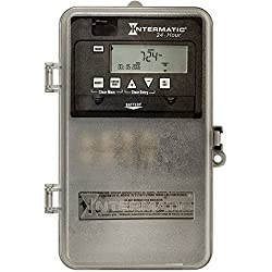 Intermatic ET1105CPD82 24-Hour 30-Amp Spst Electronic Time Switch with Clock Voltage 120-277 Vac & Nema 3R Plastic Cover, Gray