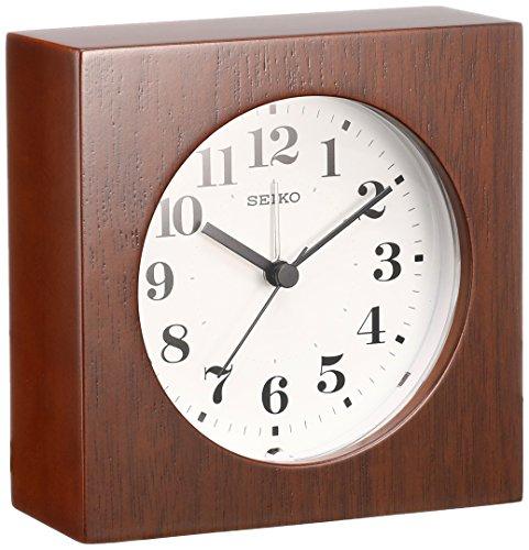 세이코 clock 벽시계 탁상시계 겸용 아날로그 알람 목테두리 다목지(나뭇결) KR501B SEIKO