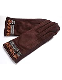 Female Models Autumn And Winter Warm Gloves Touch Screen Suede,4