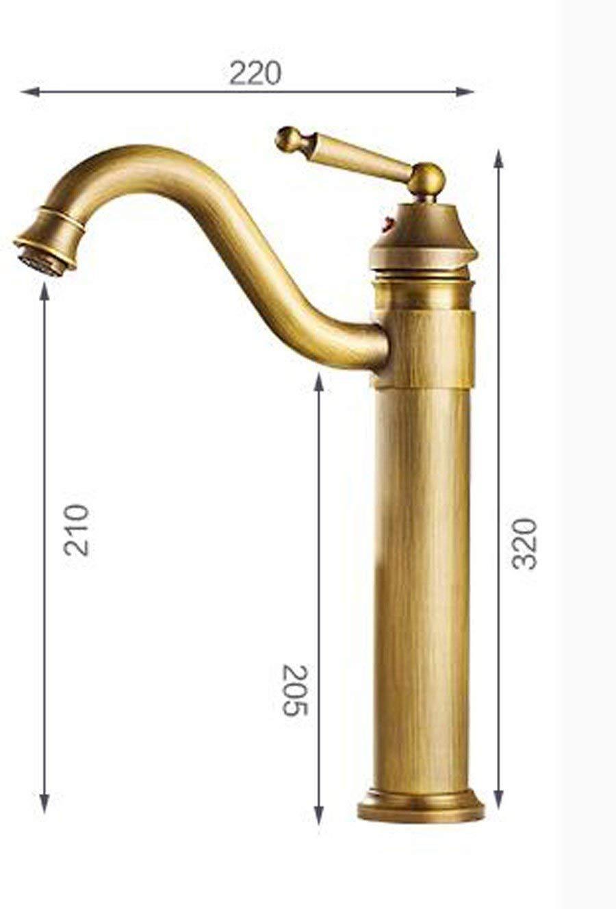 JingJingnet 洗面台の蛇口タップ浴室のシンクの蛇口すべての銅の骨董品の蛇口大面積の洗面台付きの冷たいお湯と洗面台の洗面台レトロクールスイベルフィッティング (Color : C) B07RRTTQ48 C
