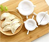 3pcs Dumpling Press, Giveme5 Plastic Ravioli Dough Press Dumpling Mold Mould Tool Gyoza Empanada Maker (White)