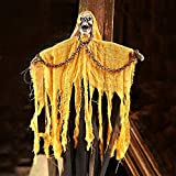 Culturemart Halloween Props Supplies Voice Chains Skeleton Ghost Hanging Ghost Party Bar KTV Decoration Ghost Horror Decoration