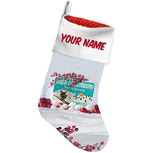 Christmas Stocking Ober Gatlinburg Ski Resort - Tennessee Ski Resort Snow Berry NEONBLOND (Time Gatlinburg Christmas)