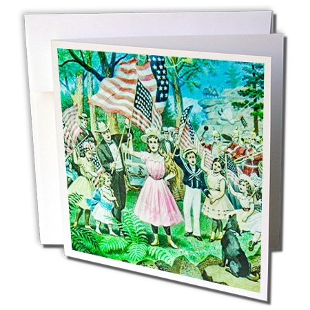 Scenes from the Past Magic Lantern - Magic Lantern Slide American Let Music Swell the Breeze Vintage - 12 Greeting Cards with envelopes - Swell Magic