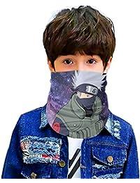 Naruto Seamless Face Cover/Headband of boys/girs Scarf,Multi-Functional Full-Coverage Tube Bandanas4-One Size