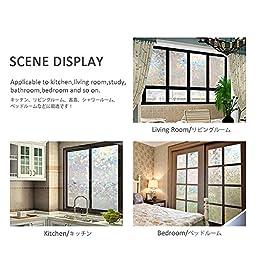 CottonColors Premium No-Glue 3D Static Decorative Window Films, 35.4In X 78.7In.(90 x 200Cm)