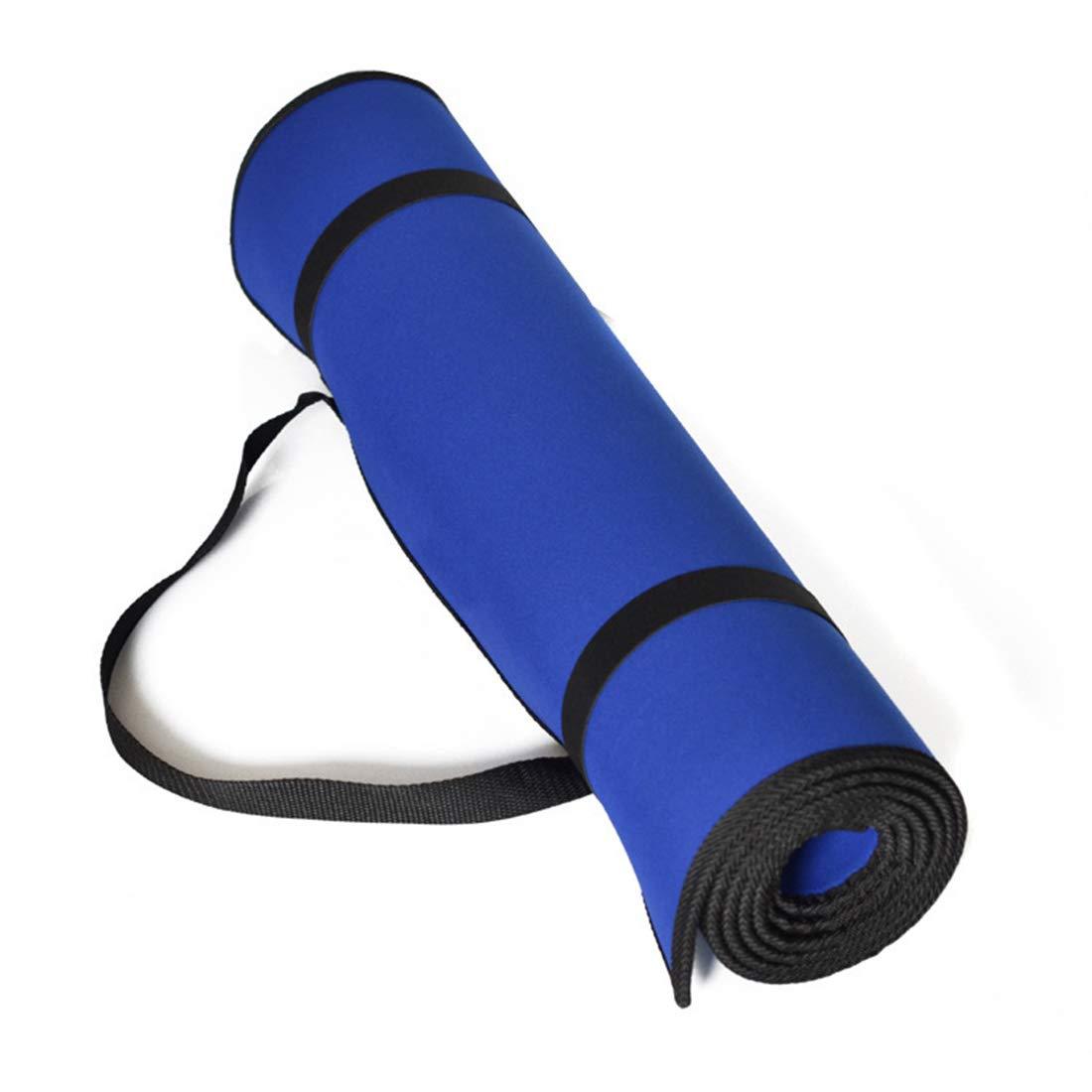 AROTOVL Rutschfeste Übungs-Yogamatte mit hoher Dichte und Tragegurt (Farbe   Blau)