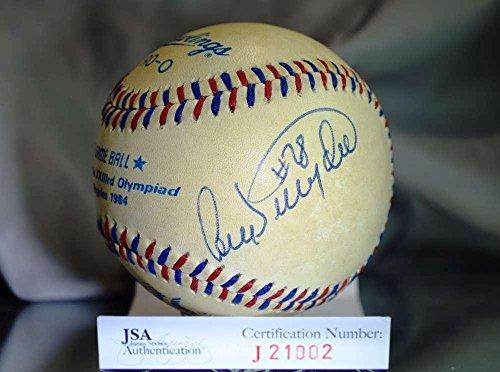 1984 Olympics Baseball (Autographed Cory Snyder Baseball - 1984 OLYMPICS AUTHENTIC - JSA Certified - Autographed Baseballs)