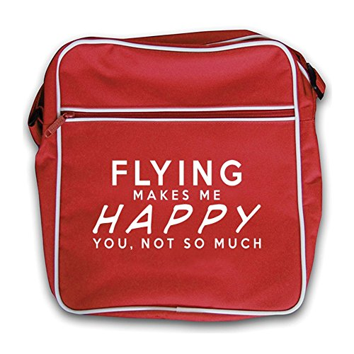 Flight Flying Me Flying Red Makes Makes Retro Happy Bag Red Me EnCqxxg0