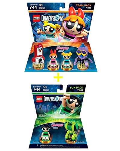 LEGO Dimensions Building Toy Pack (Powerpuff Girls & Buttercup 2 Pack Bundle)