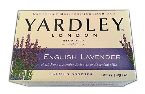(Yardley London English Lavender with Essential Oils Soap Bar, 4.25 oz Bar (Pack of 8))