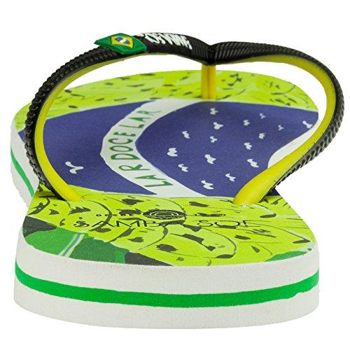 Samba Sol Hommes Collection Drapeau Flip Flops - À La Mode Et Confortable. Sandales À La Mode Et Classiques Pour Hommes. Art Du Brésil