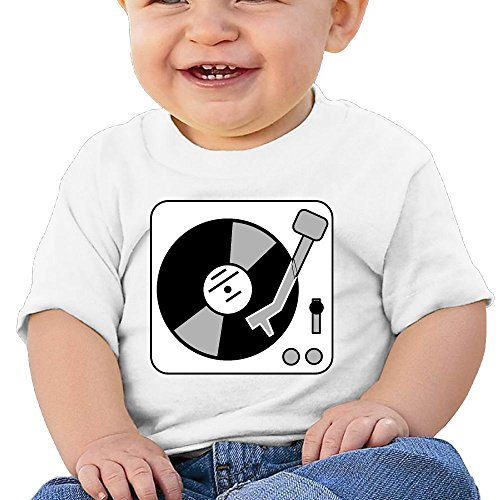 Price comparison product image NYCOPI MICJP Baby Unisex Record Player Turntable DJ Clothes Summer Short Sleeve Cotton T-Shirts 12 Months