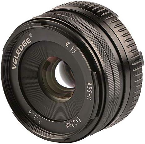 Veledge 32 Mm F1 6 Große Aperture Manual Prime Fixed Objektiv Für Sony Aps C E Mount Digital Spiegellose Kameras A6000 6300 Nex Küche Haushalt