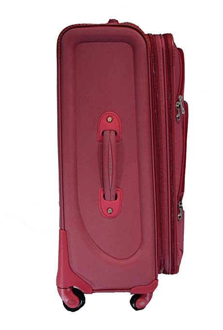 Polo House USA Polyester Maroon Soft Sided Suitcase   Trolley Bag   Amazon.in  Bags 3695ff9915193