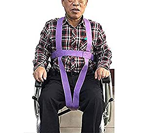 HSRG Arnés de Seguridad de Silla de Ruedas Ajustable, arnés médico de Alta Resistencia para