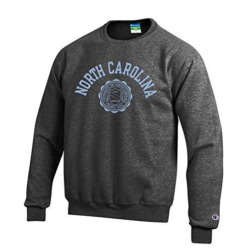 Elite Fan Shop North Carolina Tar Heels Crewneck Sweatshirt Seal Charcoal - M