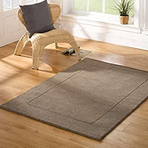 Gris alfombra exhuberantes siena tuscany 80 cm x 150 cm for Alfombras comedor amazon