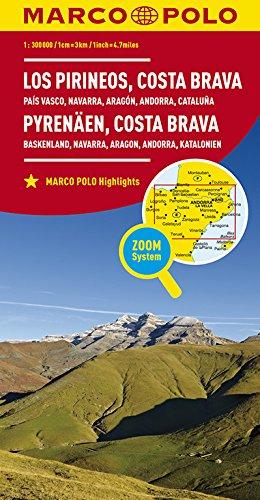 MARCO POLO Karte Spanien Pyrenäen, Costa Brava 1:300 000: Baskenland, Navarra, Aragon, Andorra, Katalonien (MARCO POLO Karten 1:300.000)