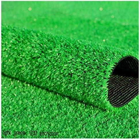 YNFNGXU 10ミリメートルパイル高人工芝6インチ(2メートル)ワイドナチュラルリアルリアル天文ガーデン暗号化偽造芝生 (Size : 2x5m)