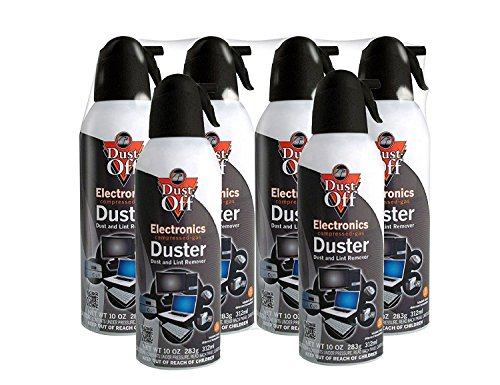 (Dust-Off Disposable Compressed Gas Duster, 10 oz Cans, 6 Pack)
