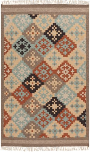 Surya Contemporary Rectangle Area Rug 8'x11' Cinnamon Spice, Slate Gray Jewel Tone II Collection