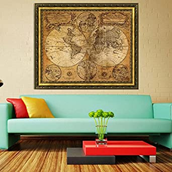 Amazon sannysis vintage style retro cloth poster globe old sannysis vintage style retro cloth poster globe old world nautical map gifts gumiabroncs Choice Image