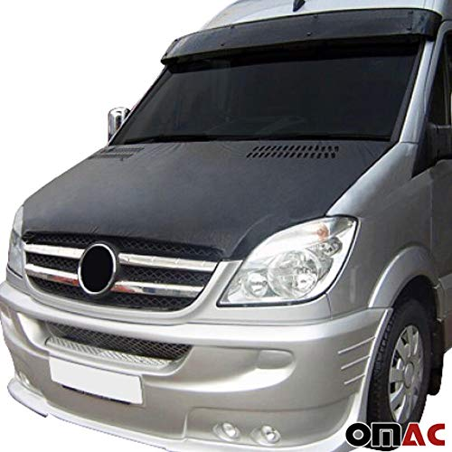 OMAC USA Front Hood Cover Mask Black Vinly Bonnet Bra Stoneguard Protector for Mercedes Sprinter W906 2006-2013