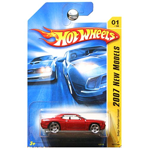 Hot Wheels 2007 New Models #1 Dodge Challenger Concept Dark Red #2007-01 Collectible Collector Car Mattel 1:64 Scale