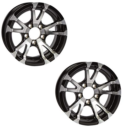 Rims Aluminum Tire - 2-Pack Aluminum Trailer Rims Wheels 5 Lug 15 in. Avalanche V-Spoke/Black
