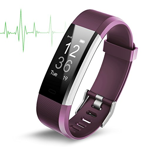 (Fitness Tracker with Heart Rate Monitor,Activity Tracker Bluetooth Fitness Watch Men Women Blood Pressure&Sleep Monitor,Step&Calorie Counter Pedometer for iPhone,Samsung/IOS&Android Smartphone)