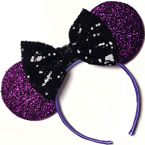 Disney Inspired Halloween Costumes For Adults (The Nightmare before Christmas inspired ears, Jack ears, Sally inspired ears, Mickey Ears, Halloween Disney Ears,purple minnie)