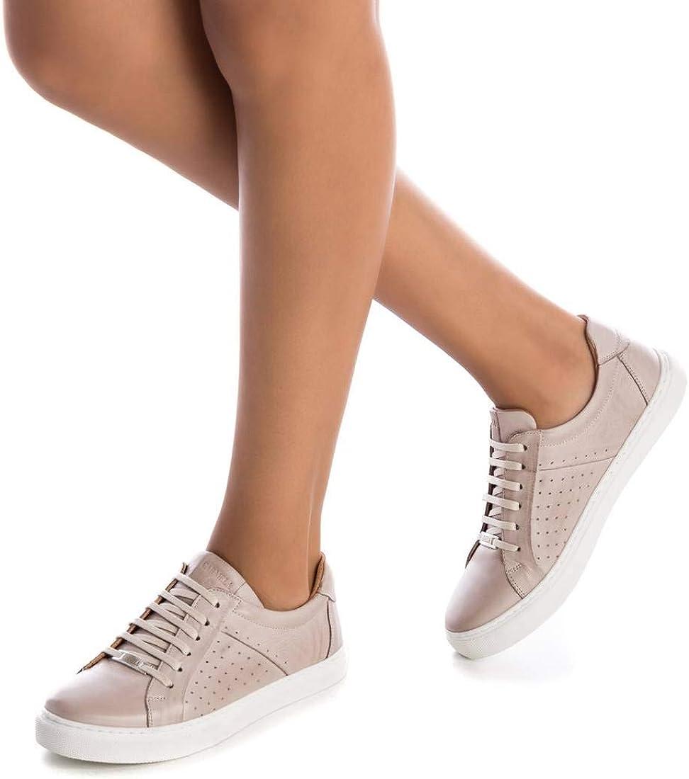 Carmela - 67207 - Hielo - Baskets Mode Cuir Taupe Hielo