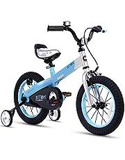 أزرار دراجات للأطفال من RoyalBaby للأولاد والبنات للأطفال بعمر 2-9 سنوات و12 و14 و16 و18 بوصة مع عجلات تدريب أو مسند أحمر أزرق وأخضر وأرجواني وردي للأطفال