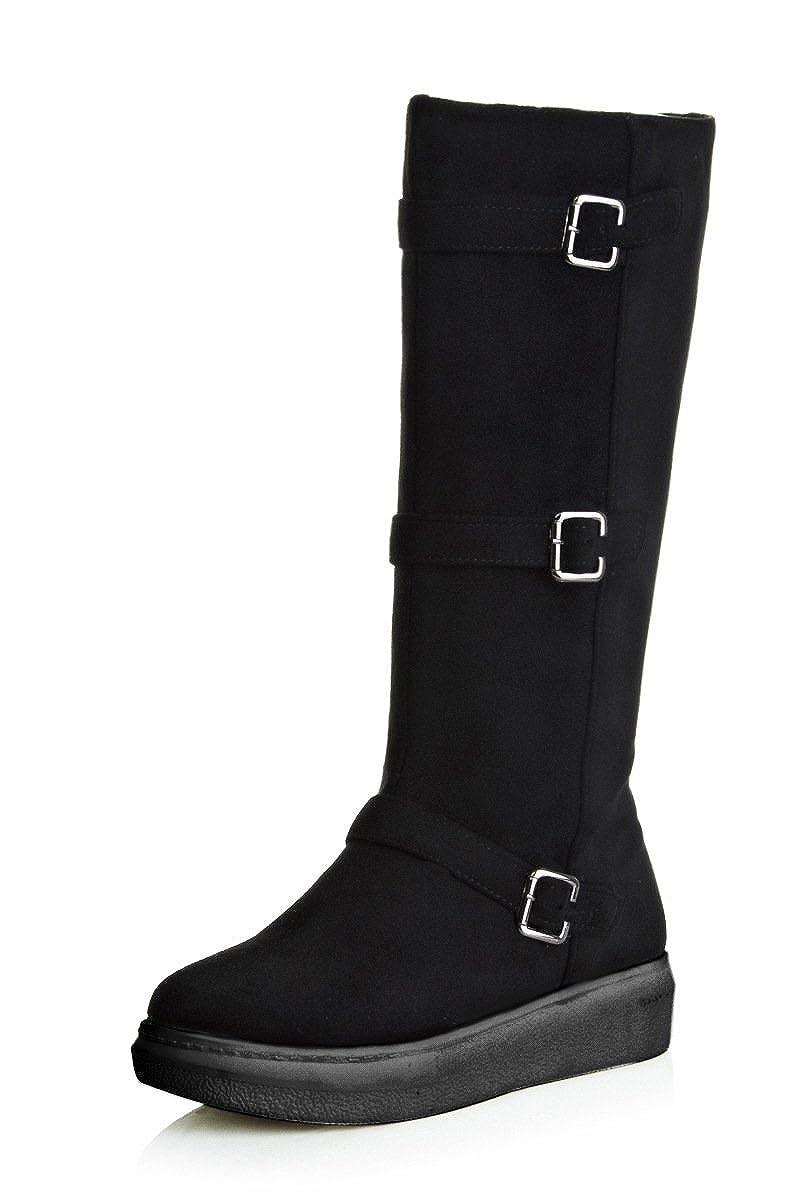 CXQ-Stiefel QIN&X Frauen Dick unten Warm Schnee Stiefel lange Stiefel Stiefel lange Schuheschwarz 1bff09