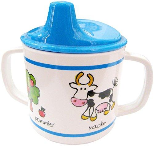 Baby Cie Farm Animals-Blue Sippy Cup, Multicolor