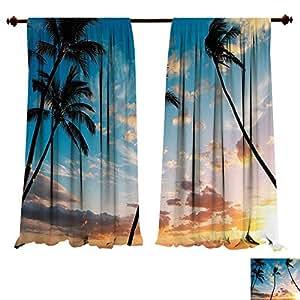 Amazon Com Blackout Living Room Bedroom Window Curtains