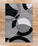 Well Woven 19485 Feather Modern Area Rug, 5′ x 7'2″, Grey