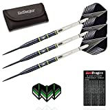 Red Dragon Freestyle 90% Tungsten Steel Darts with Flights, Shafts & Wallet & Red Dragon Checkout Card