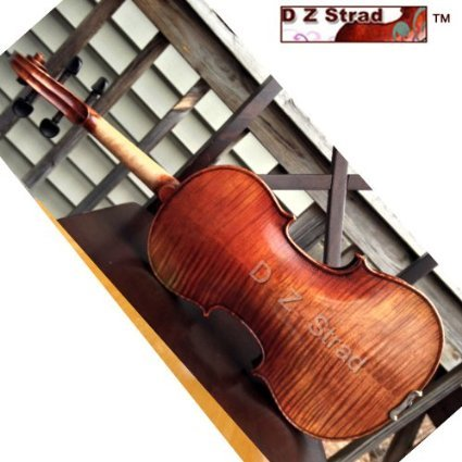 D Z Strad Model Full Size 4/4 N615 Violin Handmade by Prize Winning Luthiers with Bam Case, Bow, Shoulder Rest and Rosin