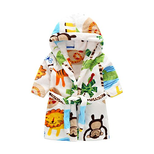 Unisexy Kids Soft Hooded Robe Toddler Bathrobe Children s Pajamas Baby  Sleepwear 2104e65db