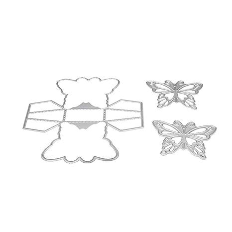 Mengonee Manual de Corte Flor de Mariposa Molde de los Dados Árbol Álbum de Recortes Tarjeta