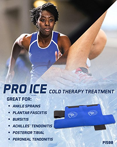 Ankle/Foot Ice Therapy Wrap – Perfect for Sprained Ankles, Plantar Fasciitis, Achilles tendonitis, and Swelling Feet - Ice Packs Included by PRO ICE COLD THERAPY PRODUCTS (Image #2)